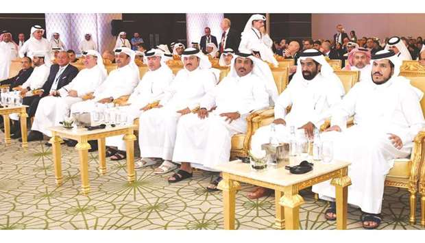 Dignitaries at the opening session of the Euromoney Qatar 2019 Conference.