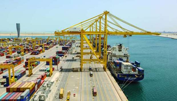 A view of Hamad Port.