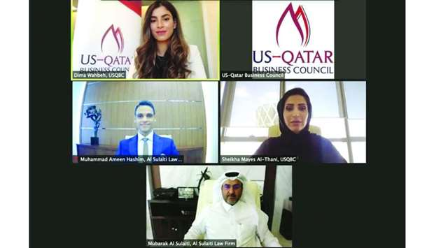Officials from Al Sulaiti Law Firm and USQBC during a recently-held forum on Qatar's labour and resi