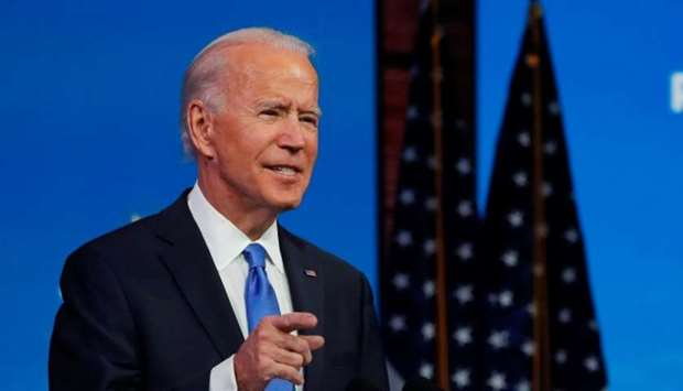 US President-elect Joe Biden delivers a televised address to the nation in Wilmington