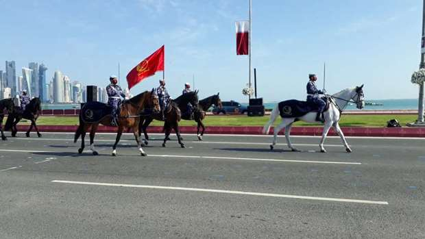 The Qatar National Day parade at Doha Corniche. PICTURES: Jayan Orma