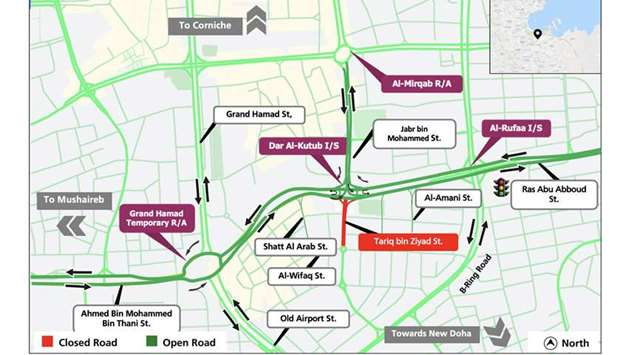 Three months partial closure on Tariq Bin Ziad Street starts Thursday