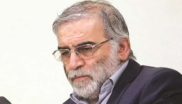 Iranian scientist Mohsen Fakhrizadeh is seen in this undated photo taken before his death.