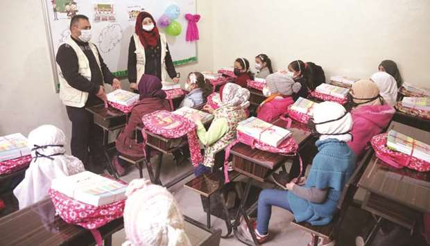 QC's ALP project is expected to benefit some 1,200 students in Azaz and Al-Bab.