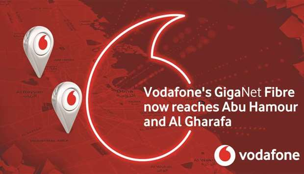 Vodafone superfast fibre network expands in Abu Hamour, Gharafa