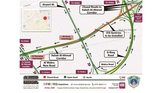 The closure in co-ordination with the General Directorate of Traffic is to complete installation of