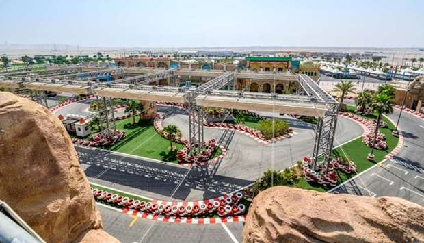 A view of the Go Kart at Desert Falls Water & Adventure Park.