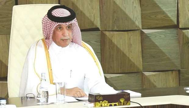 HE the Minister of State for Foreign Affairs Sultan bin Saad al-Muraikhi represented Qatar at the me