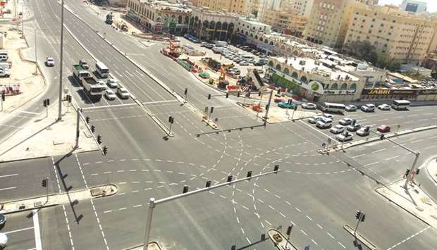 Ashghal completed the upgrading works of Al-Rufaa Intersection (known as Sana Intersection) in Augus