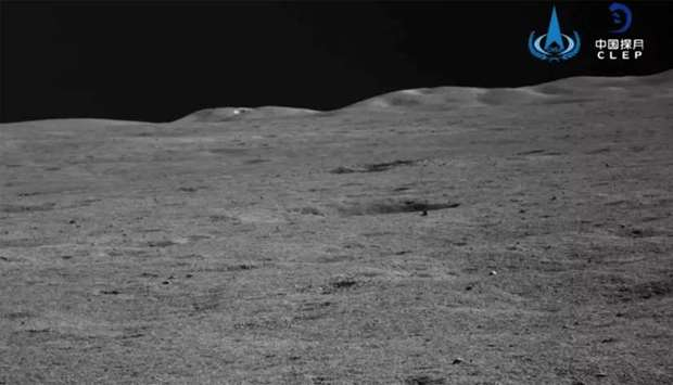 An image taken by China's mission on the moon.