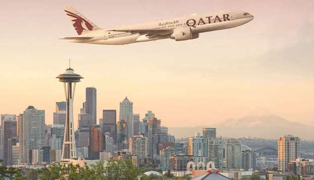 Qatar Airways will launch its four weekly flights to Seattle from January 29.