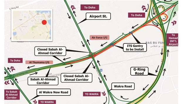 Five-hour closure on the Sabah Al-Ahmad Corridor towards HIA