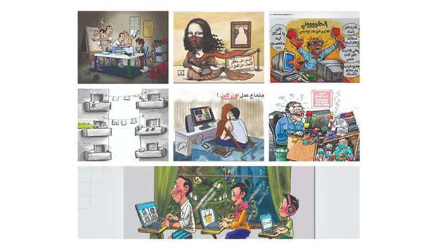 In this contest 7 participants won the Katara Cartoon Prize out of 506 male and female participants,