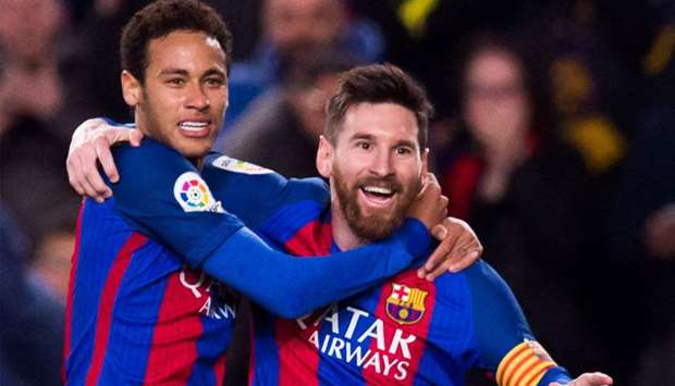 Neymar and  Messi (file photo)