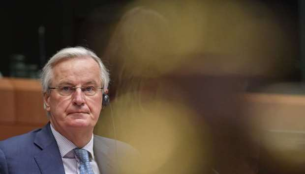 EU chief negotiator Michel Barnier is seen ahead of Brexit trade talks with his UK counterpart on De