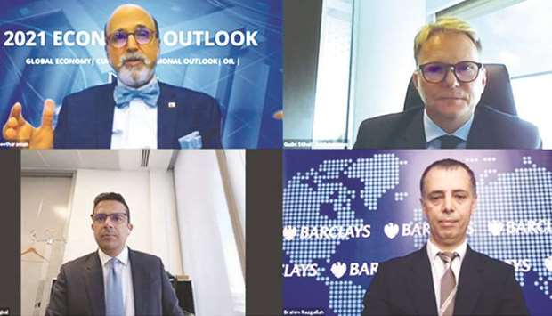 Seetharaman along with other panellists at the webinar hosted by Doha Bank.
