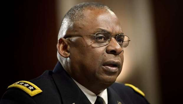In this file photo taken on March 8, 2016 Army General Lloyd Austin III, commander of the US Central