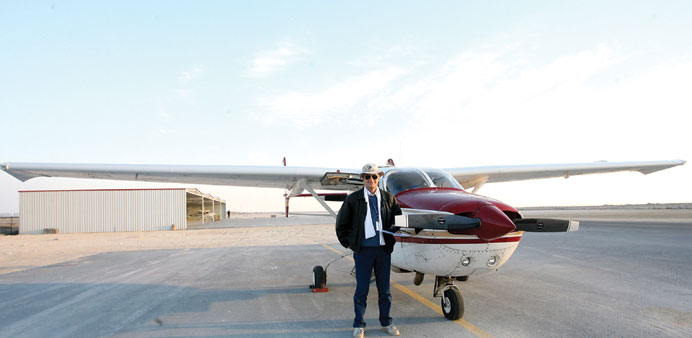 THE MASTER: Barry Sloane with his Cessna Skymaster.     Photo TKS