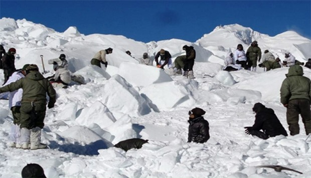 Indian avalanche soldier in critical condition