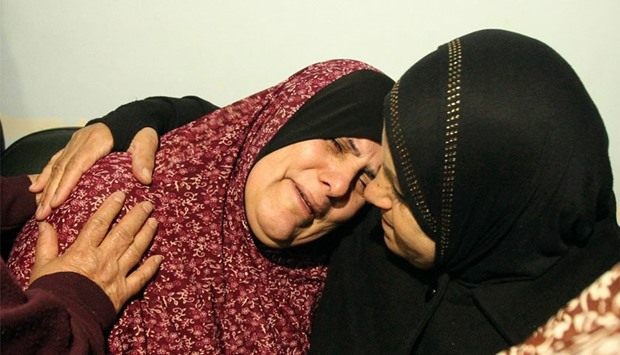 Killed Palestinians mother weeps