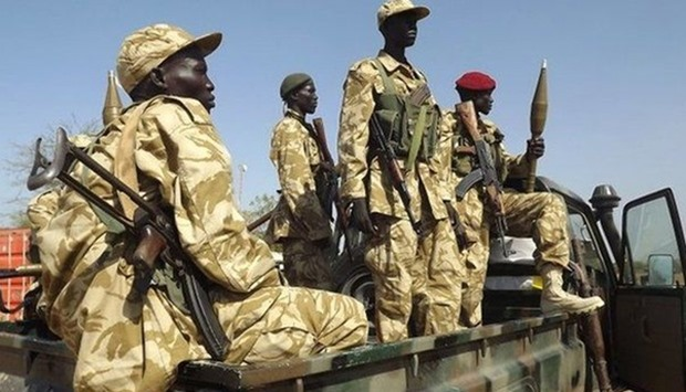 South Sudan government troops