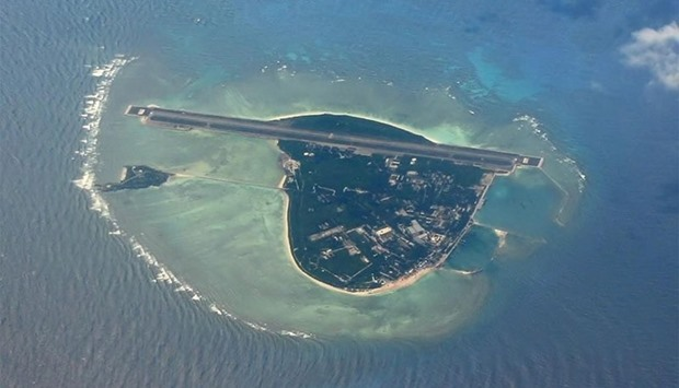 A aerial view of Woody Island