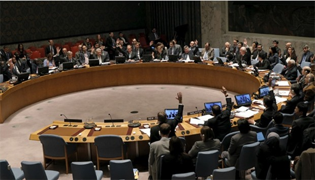 The United Nations Security Council votes to approve a resolution endorsing the planned halt in figh