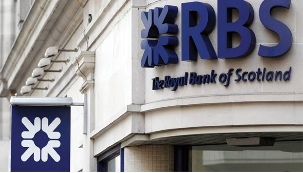 A Royal Bank of Scotland branch in London. The UK lender had a local balance sheet of Rs190bn ($2.8b