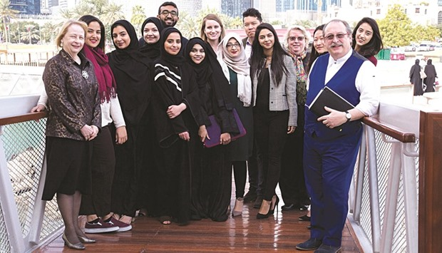 QGBC experts with NU-Q students