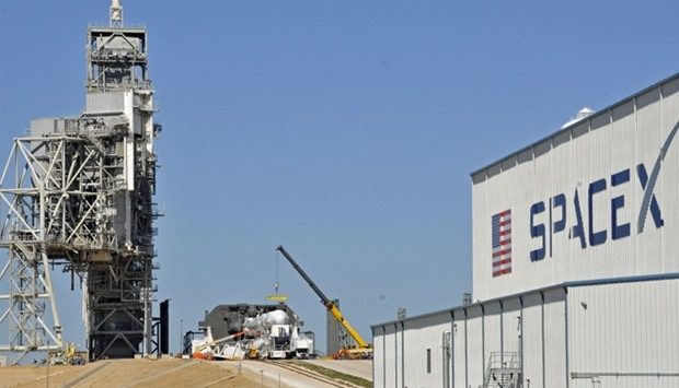 The launch vehicle, the Falcon 9 lifted