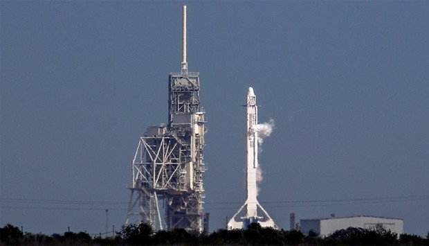 SpaceX Falcon 9 rocket ready for take-off