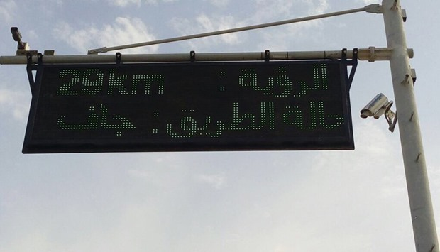 The Qatar Civil Aviation Authority has started installing boards displaying weather conditions along