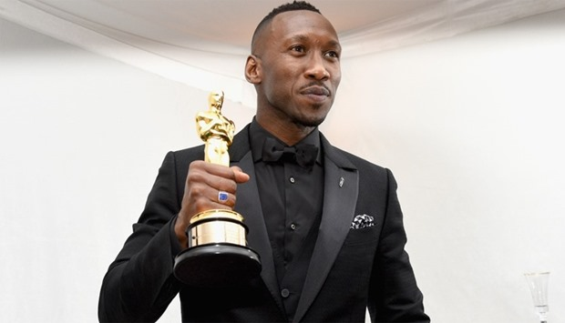 Actor Mahershala Ali, winner of the award for Actor in a Supporting Role for 'Moonlight'