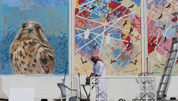 Katara Murals with the Brushes of Artists
