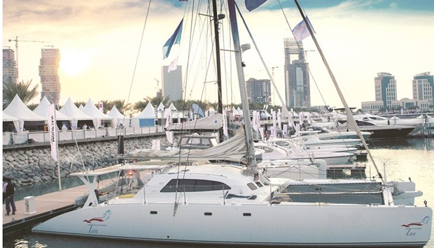 Boats berthed in Pearl Qatar marinas. File picture