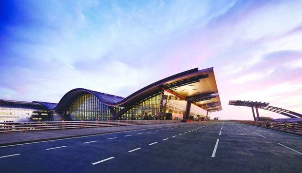 State-of-the-art Hamad International Airport in Doha.