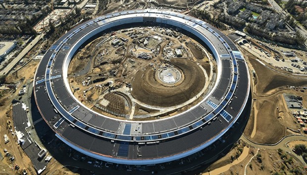 The Apple Campus 2 is seen under construction in Cupertino, California in this aerial photo