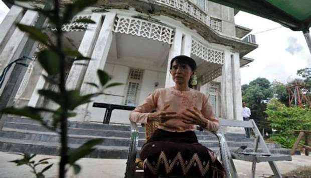 Petrol bomb thrown at Suu Kyi's lakeside villa