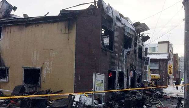 11 killed in fire at Sapporo support facility