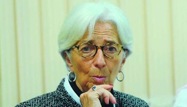 IMF Managing Director Christine Lagarde addresses QU roundtable in Doha