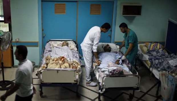 Al-Wafah Hospital in Gaza.