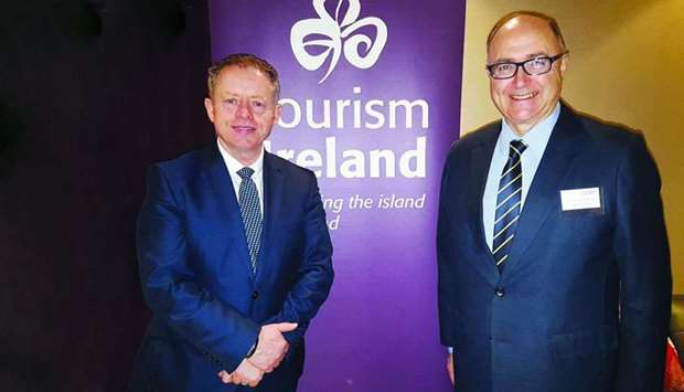 Ireland's Minister of State Ciaran Cannon and ambassador Paul Kavanagh in Doha. PICTURE: Joey Aguila