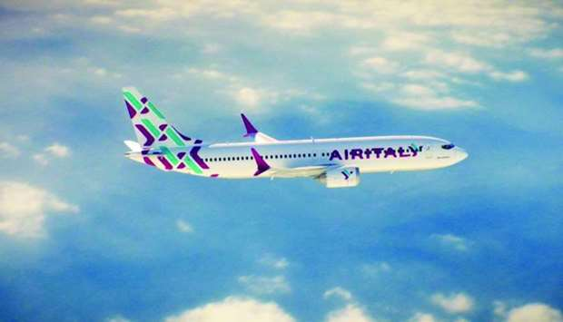 "The ""beautiful new livery and identity"" for Air Italy as announced by Qatar Airways through Twitter."