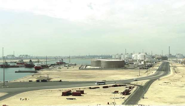 This file photo taken on February 6, 2017 shows the Ras Laffan Industrial City, Qatar's principal si