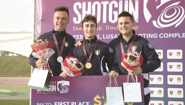 Vescovi leads Italian sweep in double trap