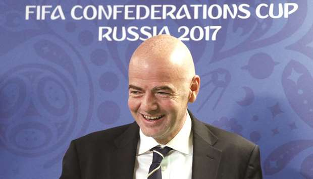 FIFA chief praises Qatar's 2022 progress