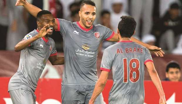 El Arabi puts Duhail on top, Gharafa also win