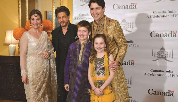 Canadian Prime Minister Justin Trudeau, his wife Sophie Grégoire Trudeau, daughter Ella-Grace and so