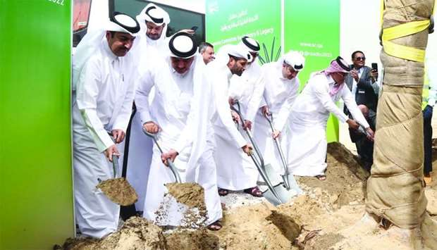 HE the Minister of Municipality and Environment Mohamed bin Abdullah al-Rumaihi, along with Hassan a