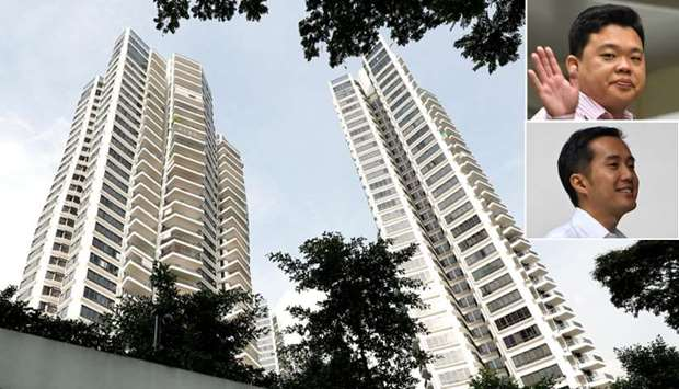 A general view of d'Leedon condominium in Singapore (inset)Yao Songliang and Terence Tan En Wei